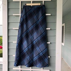 J. CREW Wool Blend Maxi Skirt